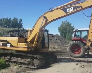 Excavadora Caterpillar 320B-maquinarias-construccion-zonapesada-USA